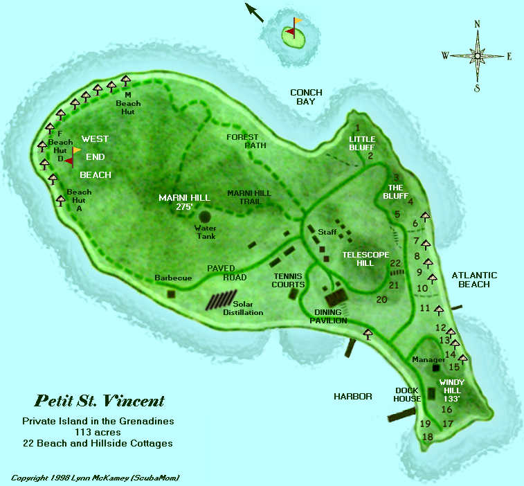 Petit St. Vincent map
