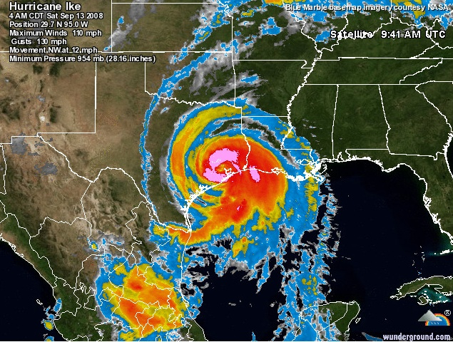 Map Of Texas Storms.Texas Hurricanes 1950 2015