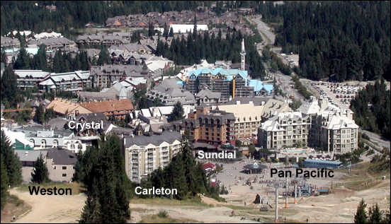 Hotels At The Base Of Whistler Mountain